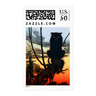 Into A Cat Postage