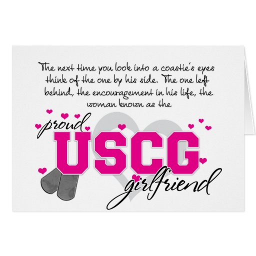 Into a Coasite's eyes - Proud USCG Girlfriend Card