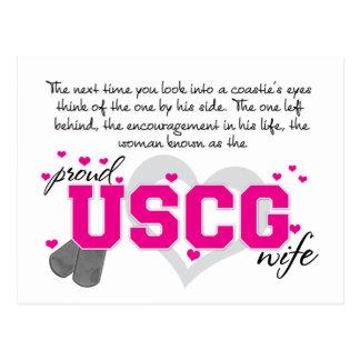 Into a Coastie's eyes - Proud USCG Wife Postcard