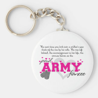 Into a Soldier's eyes - Proud Army Fiancee Keychain