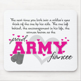 Into a Soldier's eyes - Proud Army Fiancee Mouse Pad