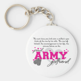 Into a Soldier's eyes - Proud Army Girlfriend Basic Round Button Keychain