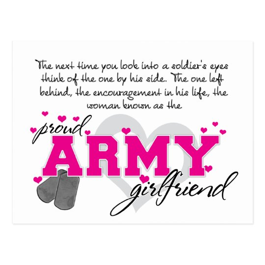 Into a Soldier's eyes - Proud Army Girlfriend Postcard