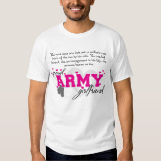 Into a Soldier's eyes - Proud Army Girlfriend Tee Shirt