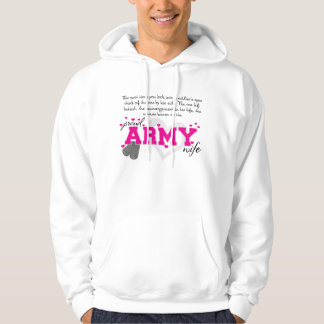 Into a Soldier's eyes - Proud Army Wife Hoodie