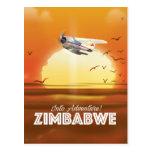 Into Adventure! Zimbabwe travel poster Postcard