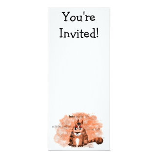 Into Every Life a Little Cathair Must Fall 4x9.25 Paper Invitation Card