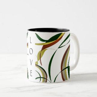 Into Fall Design Two-Tone Coffee Mug