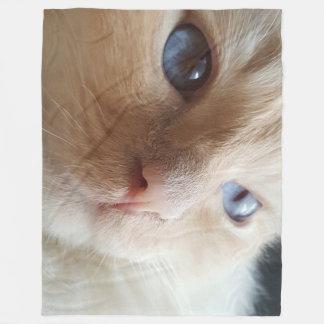 into my eyes fleece blanket