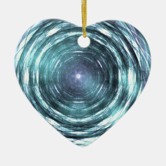 Into the black hole ceramic ornament