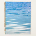 "Into the Blue Planner<br><div class=""desc"">Sunlight glistens on the shimmering blues of calm and refreshing water,  ready to dive into and enjoy or admire and refresh your mind so you&#39;re ready to dive into your planner!</div>"