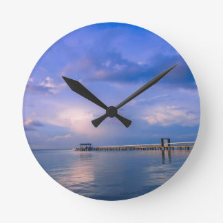 Into the Blue Round Clock