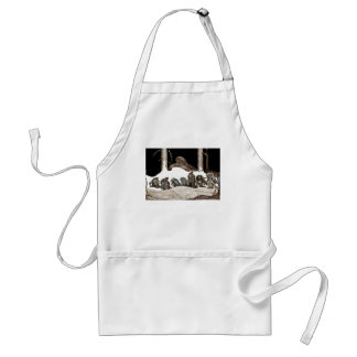 Into the Christmas Night Tomte-Nisse Adult Apron