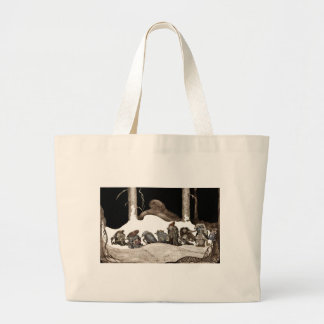 Into the Christmas Night Tomte-Nisse Tote Bags