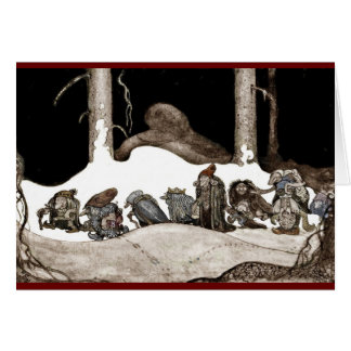 Into the Christmas Night Tomte-Nisse Greeting Card
