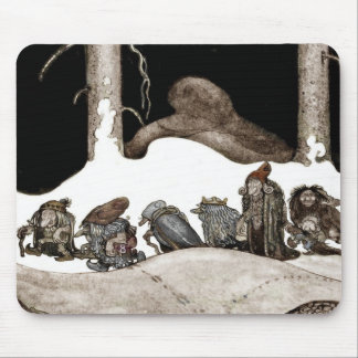 Into the Christmas Night Tomte-Nisse Mousepads