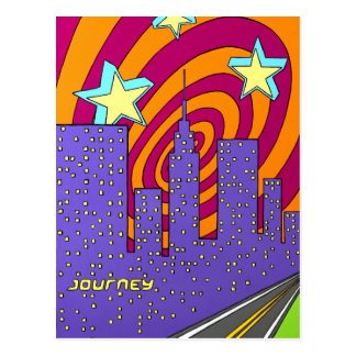"""Into the City"" Postcard"