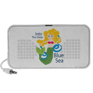 Into The Deep Blue Sea Notebook Speaker
