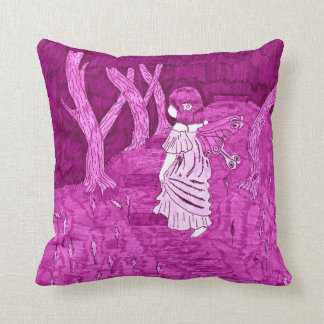 """""""Into the Forest"""" Fairy Throw Pillow"""