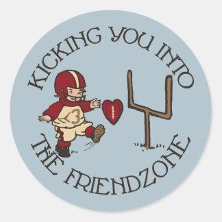Into The Friendzone Classic Round Sticker