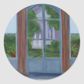 """Into the Garden"" Classic Round Sticker"