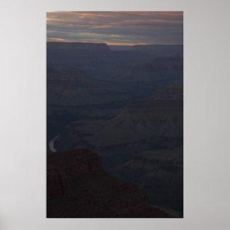 Into the Grand Canyon at Dusk Print