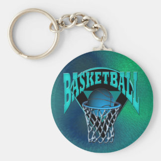 Into The Hoop Basketball and Backboard Basic Round Button Keychain
