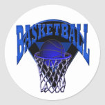 Into The Hoop Basketball and Backboard Classic Round Sticker