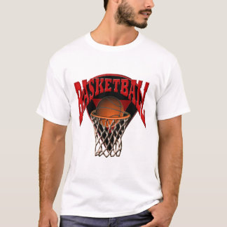 Into The Hoop Basketball and Backboard T-Shirt