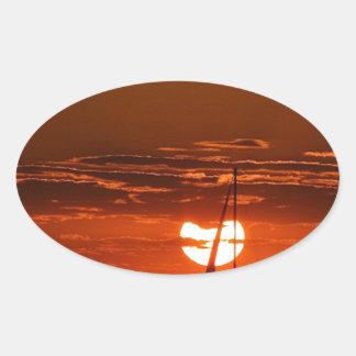 Into the Horizon.JPG Oval Sticker