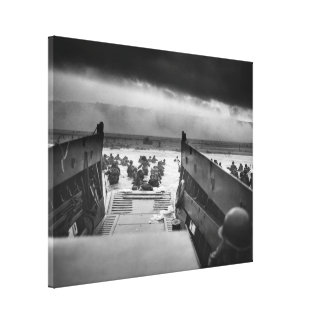 Into The Jaws Of Death LCVP World War II Omaha Canvas Print