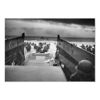 Into The Jaws Of Death LCVP World War II Omaha Card
