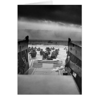 Into The Jaws Of Death LCVP World War II Omaha Greeting Card