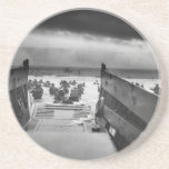 Into The Jaws Of Death LCVP World War II Omaha Drink Coaster