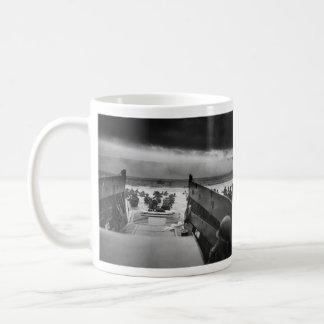 Into The Jaws Of Death LCVP World War II Omaha Coffee Mug