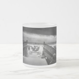 Into The Jaws Of Death LCVP World War II Omaha Frosted Glass Coffee Mug