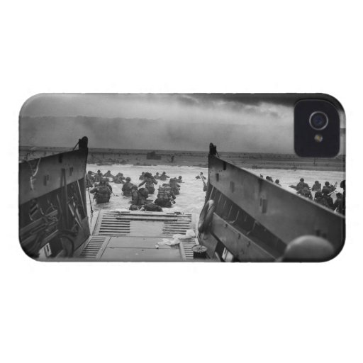 Into The Jaws Of Death LCVP World War II Omaha iPhone 4 Case-Mate Case