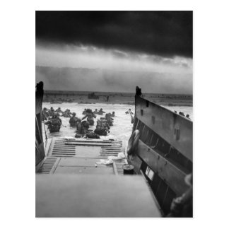 Into The Jaws Of Death LCVP World War II Omaha Postcard