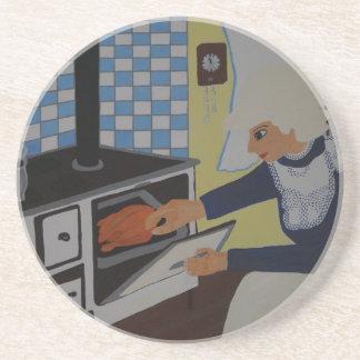 into the kitchen coaster