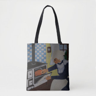 into the kitchen tote bag