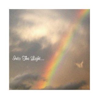 Into The Light (Blue Sky) Canvas Print