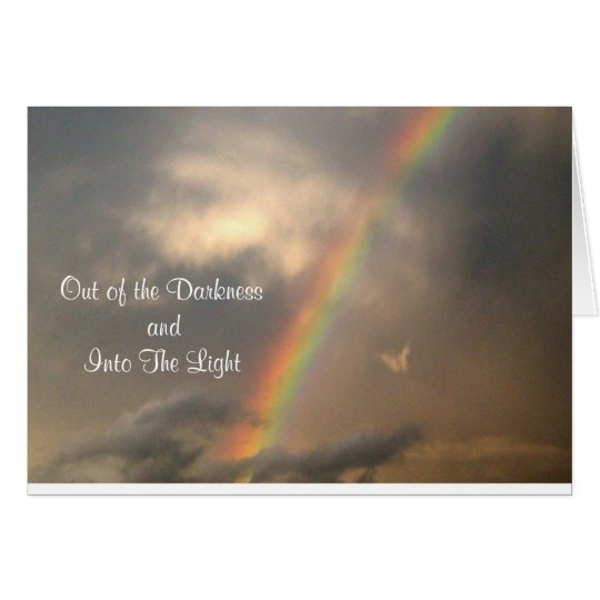 Into The Light (Blue Sky) Card