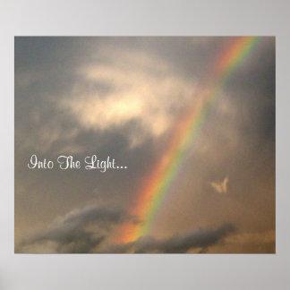 Into The Light (Blue Sky) Poster