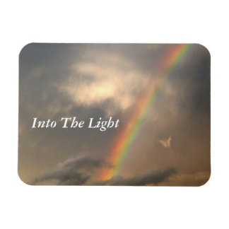 Into The Light (Blue Sky) Rectangular Photo Magnet