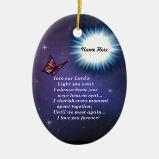 Into The Light Butterfly Ceramic Ornament