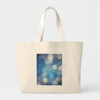 Into The Light by Diamante Lavendar Large Tote Bag