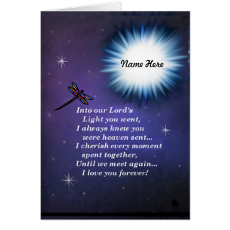 Into The Light Dragonfly Card