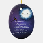 Into The Light Dragonfly Ceramic Ornament