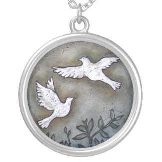 Into The Light  Inspirational Doves Necklaces