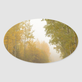 Into The Mist Oval Sticker